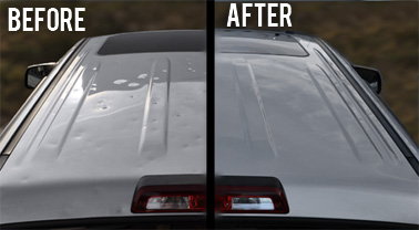 Before & After Hail Damage